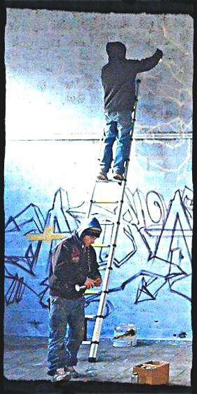 À Angoulême, Kiston Kadix, l'incontournable de l'éphémère, s'en est allé. Restent ses œuvres et K10.