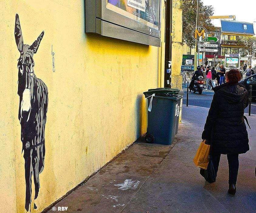 La conquête de l'Ouest de Tefi, street artist.