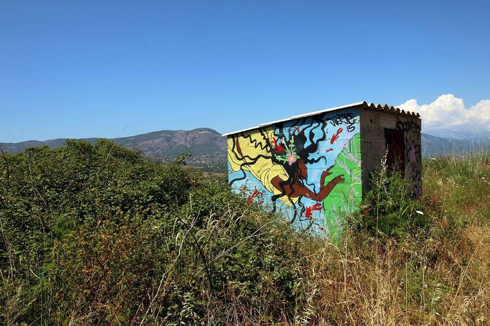 Photo ©André-Yves Torre / Corse Land&Street-Art / Monte Gozzi