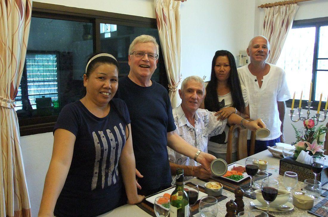 13 mars 2015: Visite de Luc et repas chez Jean-Pierre