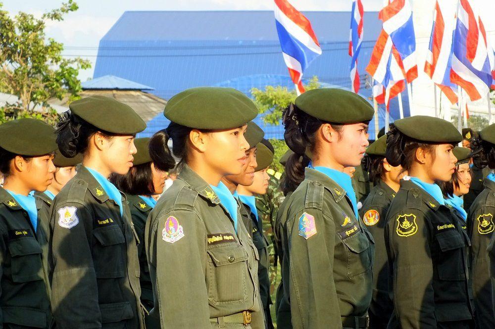 4 décembre 2015: Udonthani, Parade militaire.