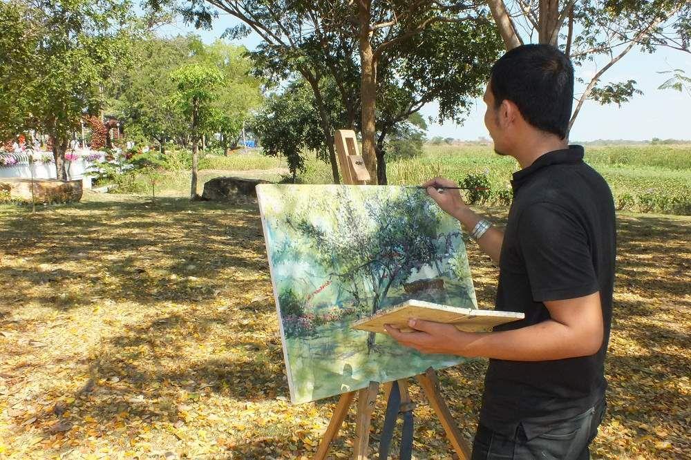29 décembre 2015: Sortie à l'exposition florale de Khon Kaen