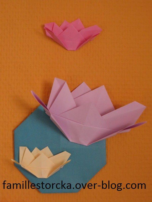 fleur de lotus en origami le blog de la famille storcka. Black Bedroom Furniture Sets. Home Design Ideas