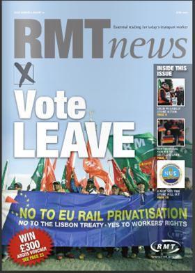 La fédération syndicale des transports britanniques - RMT - appelle ses membres à voter pour la fin de l'appartenance du Royaume-Uni à l'Union européenne
