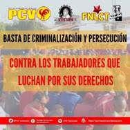Assez de criminalisation et de persécution contre les luttes du mouvement ouvrier et syndical de classe!