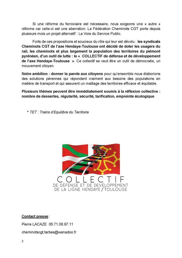 Hendaye-Toulouse : Les TET sacrifiés !! (Pétition)
