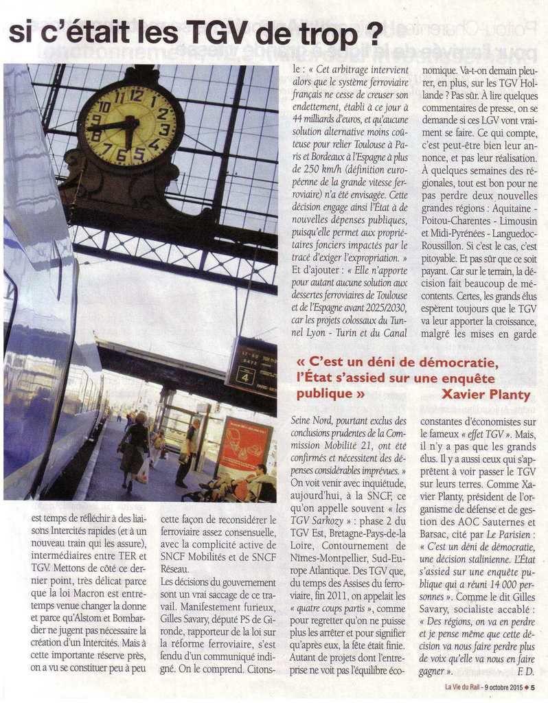 Bordeaux-Toulouse, Bordeaux-Dax et si c'était les TGV de trop !