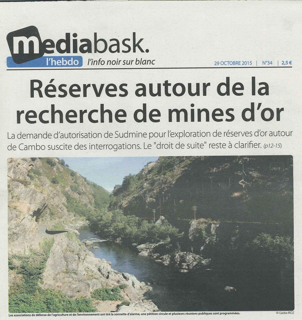 Réserves autour de la recherche de mines d'or