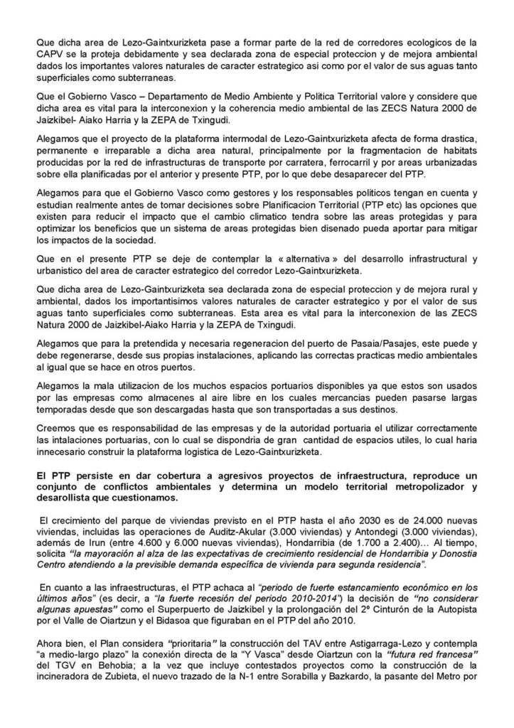 Participation d'ACE et du CADE au PTP Donostialdea – Bajo Bidasoa