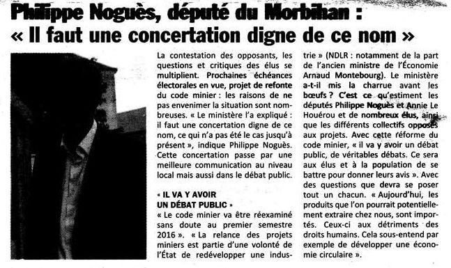 Quelques informations sur les projets miniers de Bretagne