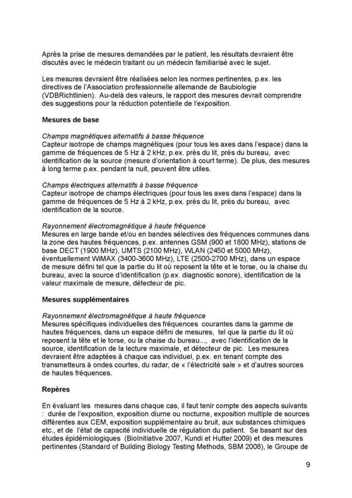 Directive de l'Association Médicale Autrichienne concernant les maladies liées  au syndrome CEM