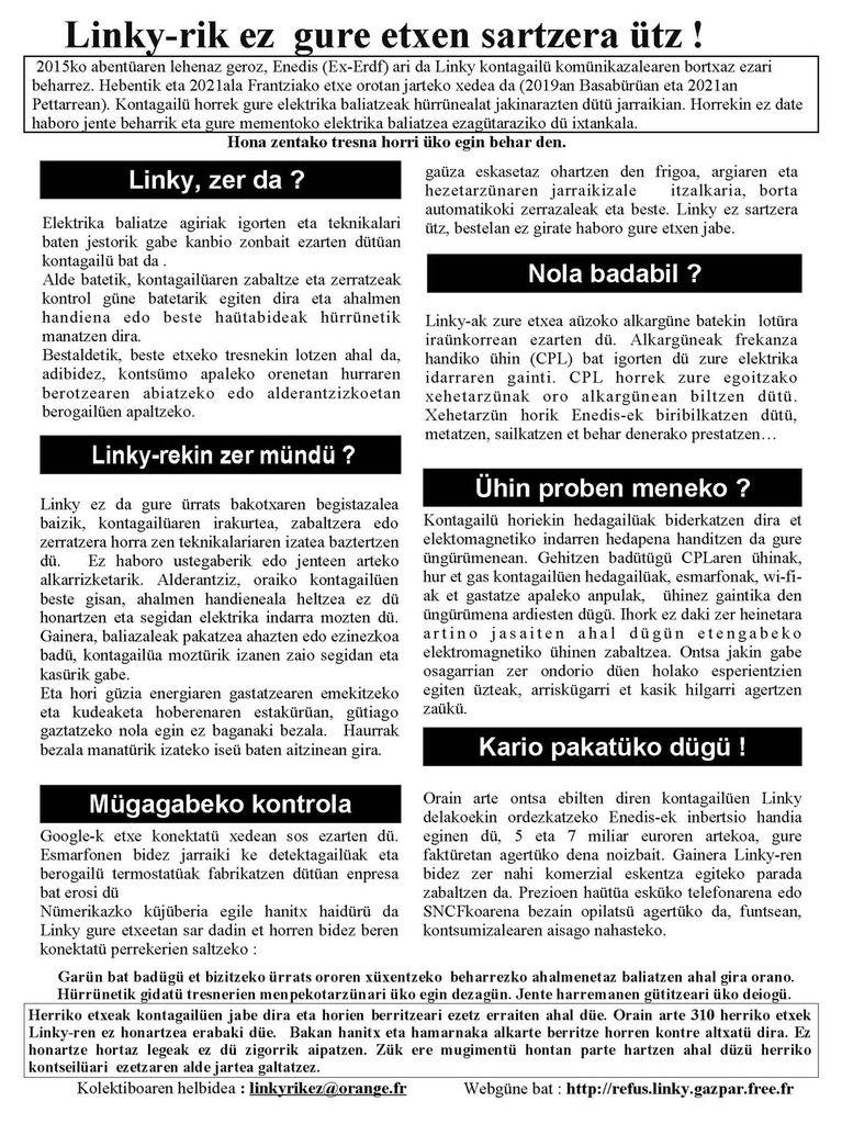 Mauléon 11/02/17 : Linkyrikez distribuera un tract aux délégués/e du SDEPA lors de son Comité Syndical