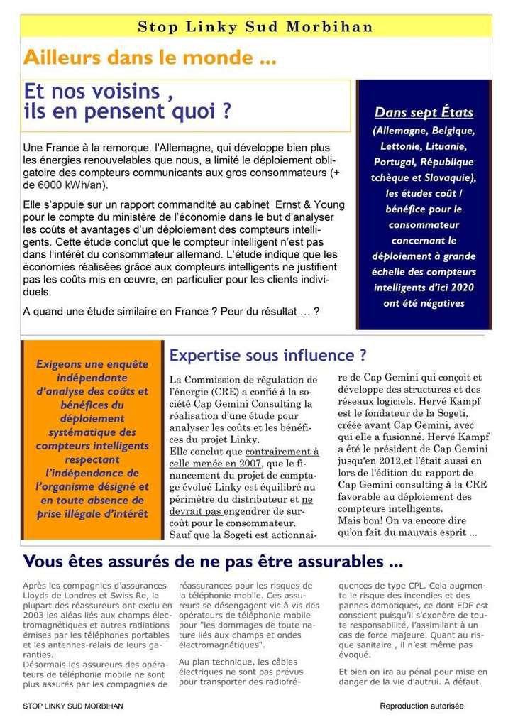 Linky - Infos-droit - Stop aux idées reçues - Aucune directive européenne n'impose le LINKY … !