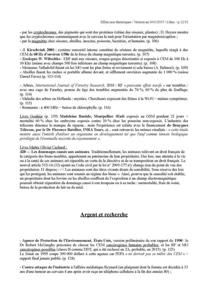 Dossier: les effets non thermiques des champs électromagnétiques