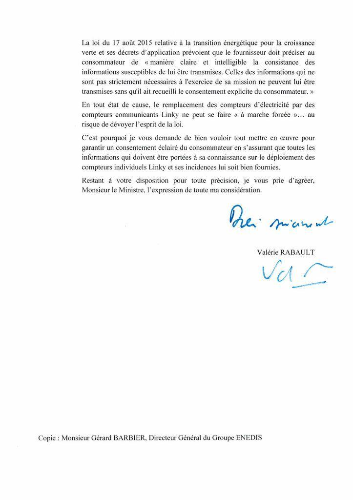La Rapporteure Générale de la Commission Générale des Finances rappelle N.HULOT le caractère non obligatoire du Linky
