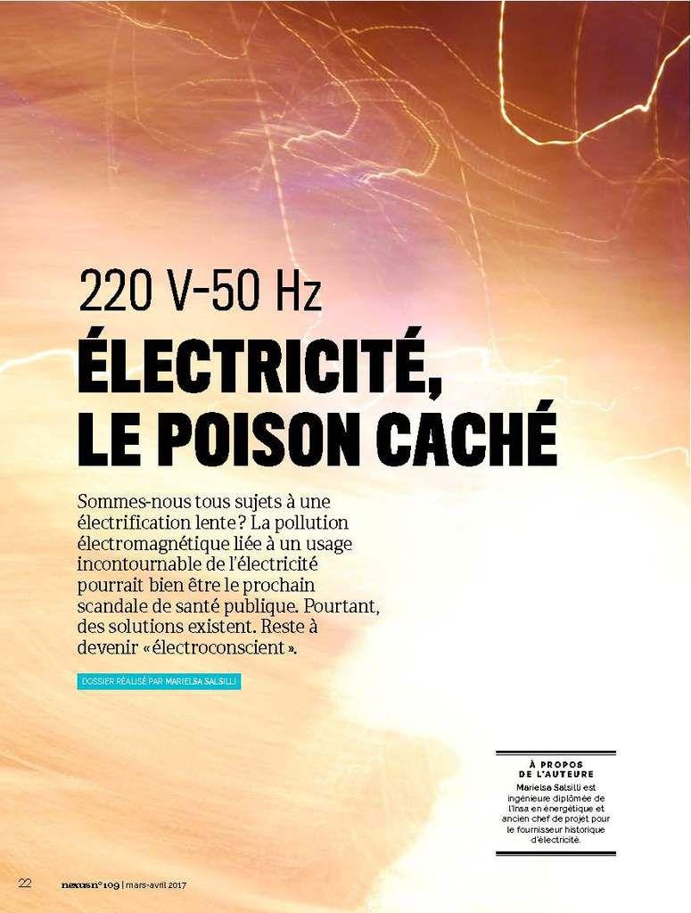 NEXUS, Mars-Avril 17: Protégez-vous des champs électriques