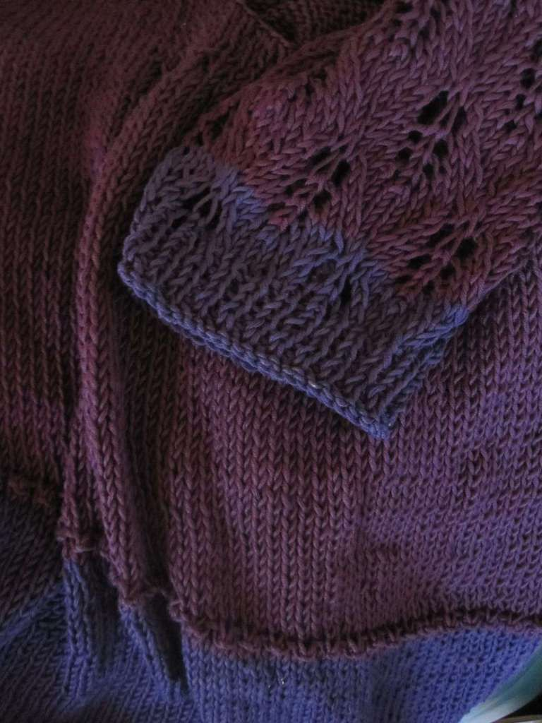Le pull violet