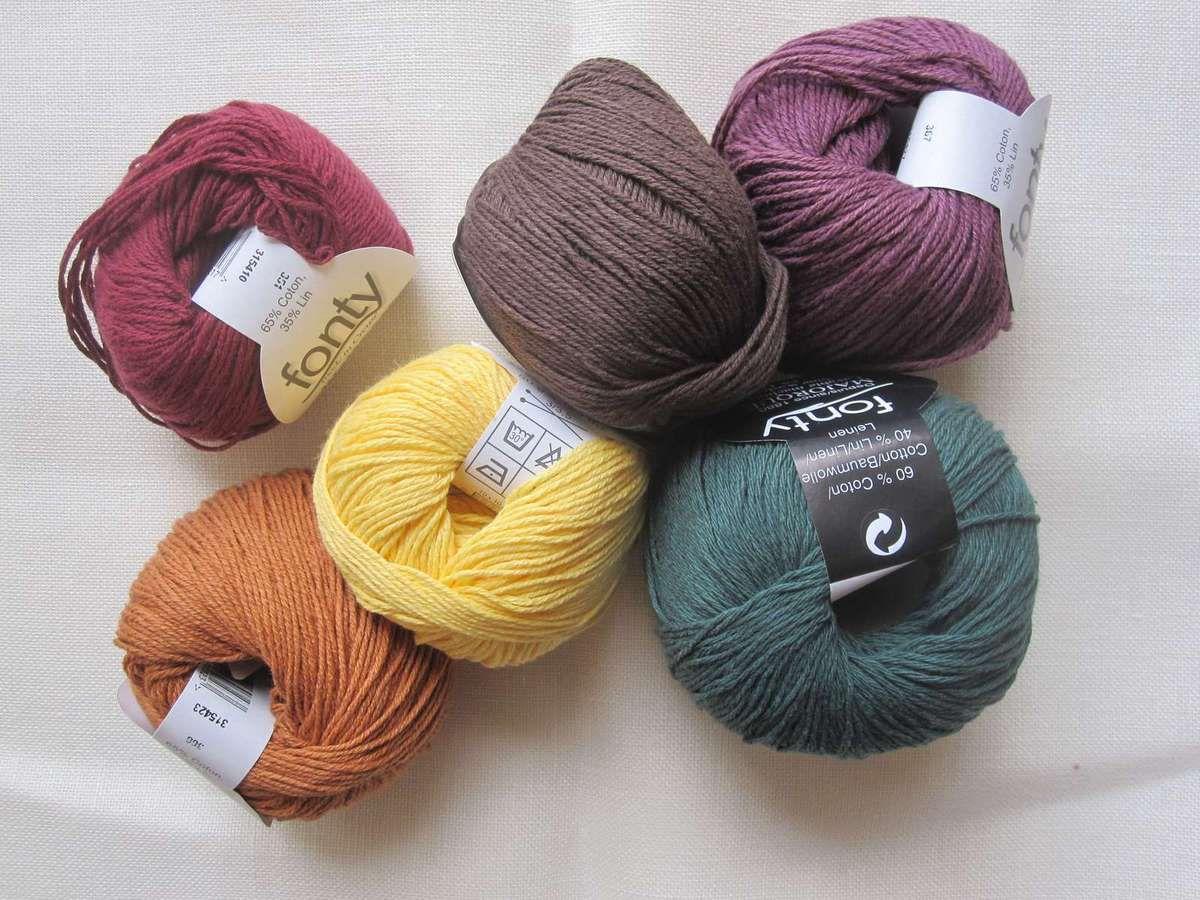 Soldes de laines et projets pour l'été...