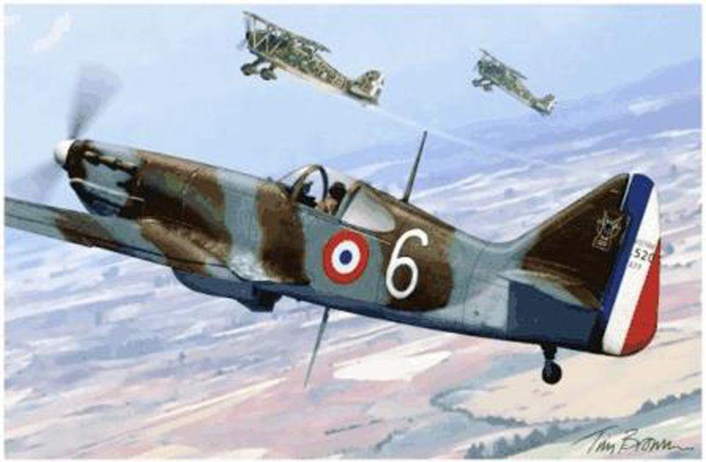 Le Dewoitine 520 du musée de l'air du Bourget.