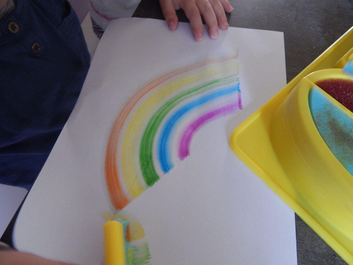 [ Toyscolor ] Arc en ciel de couleurs en peinture