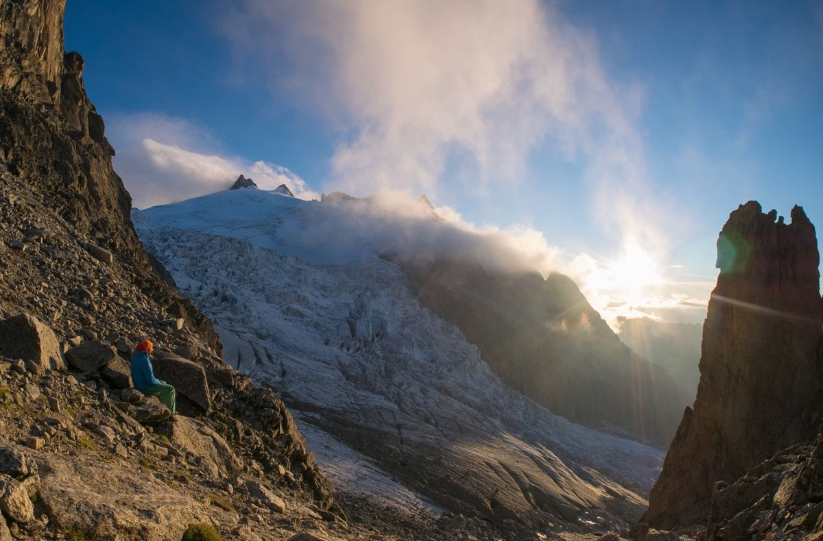 Lumière splendide sur le glacier de Trient