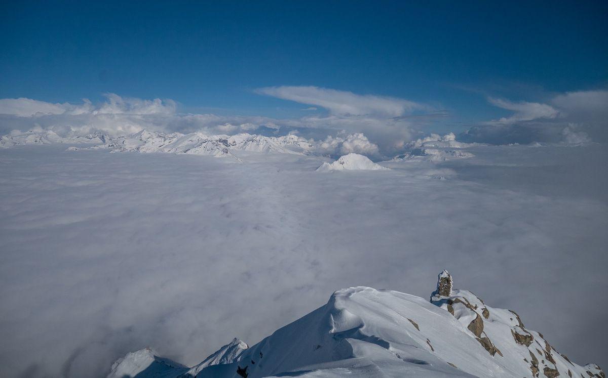 Du sommet, vue vers l'est