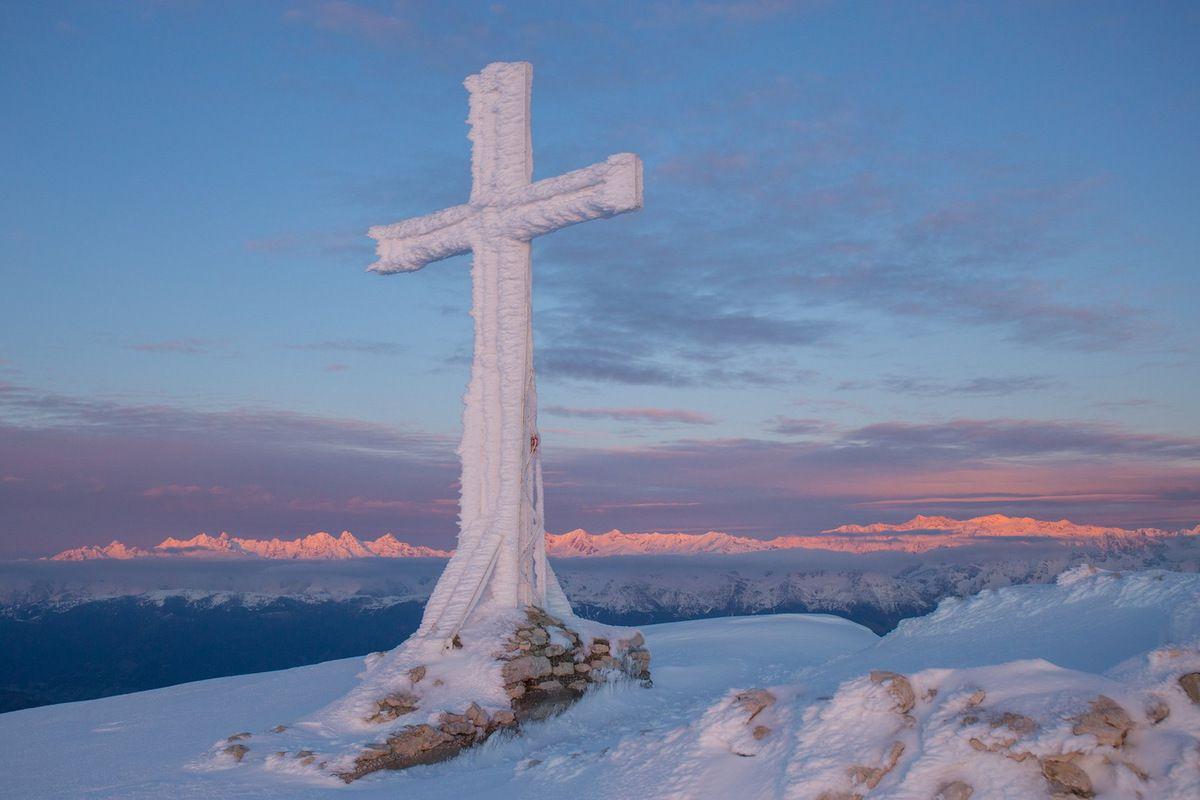 La Croix comme je ne l'ai jamais vue durant tout cet hiver
