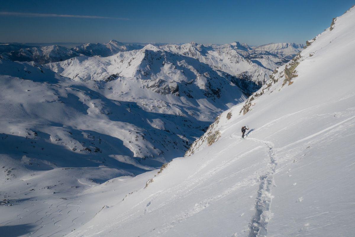 Montée en face ouest du Grand Mont