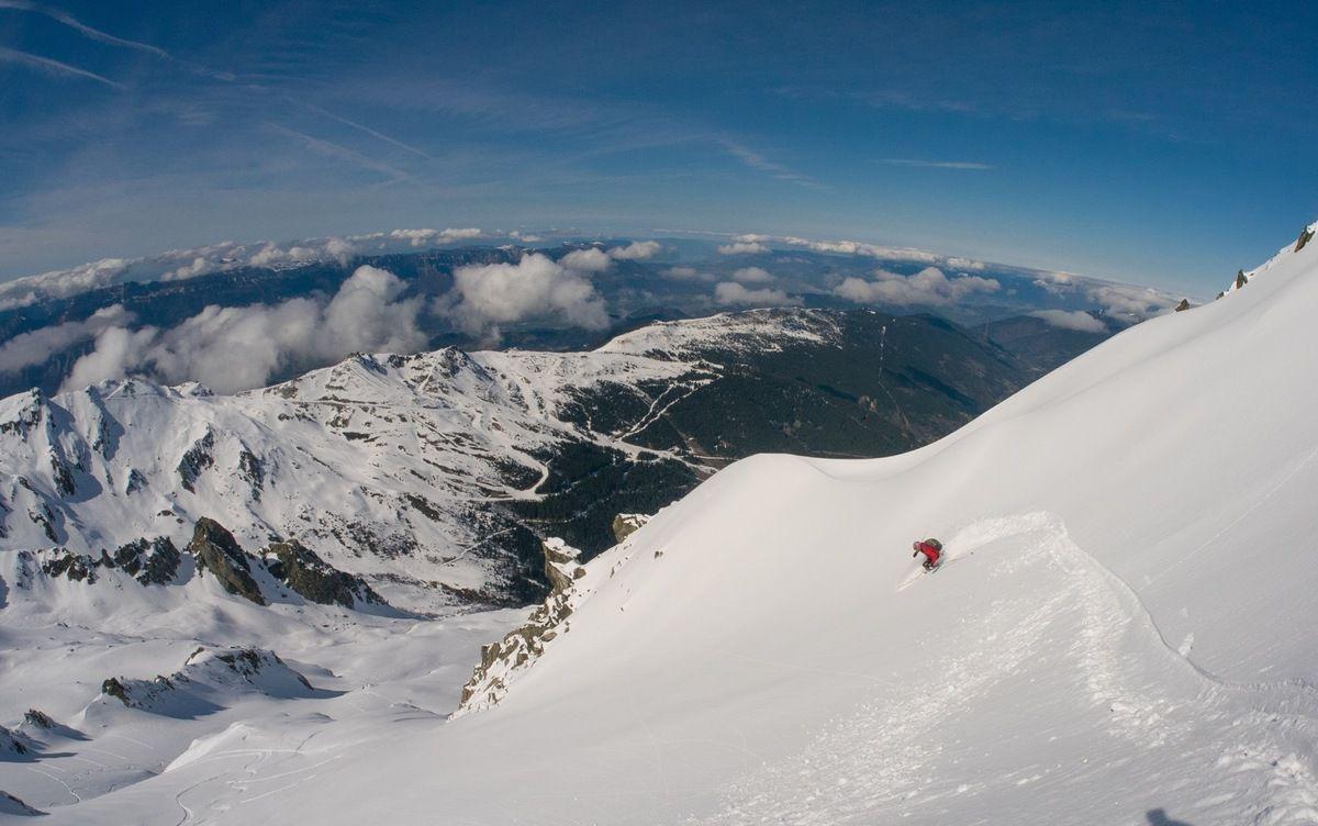 Cabottes, descente directe du sommet