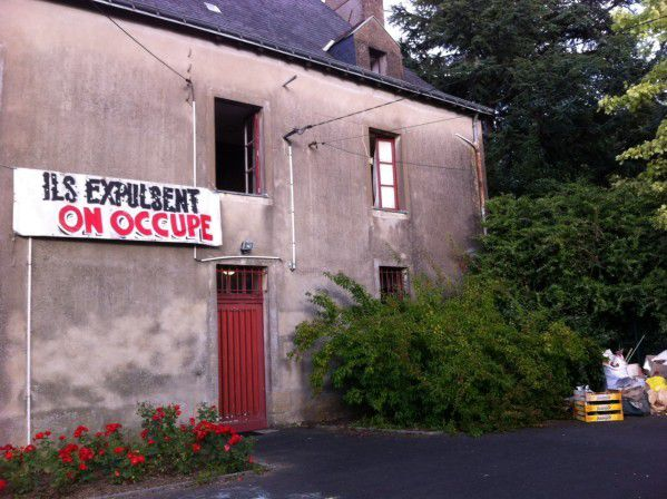 Nouvelle occupation. Presbytère à Doulon. Photo : Orlanda Ribeiro, Citizen Nantes