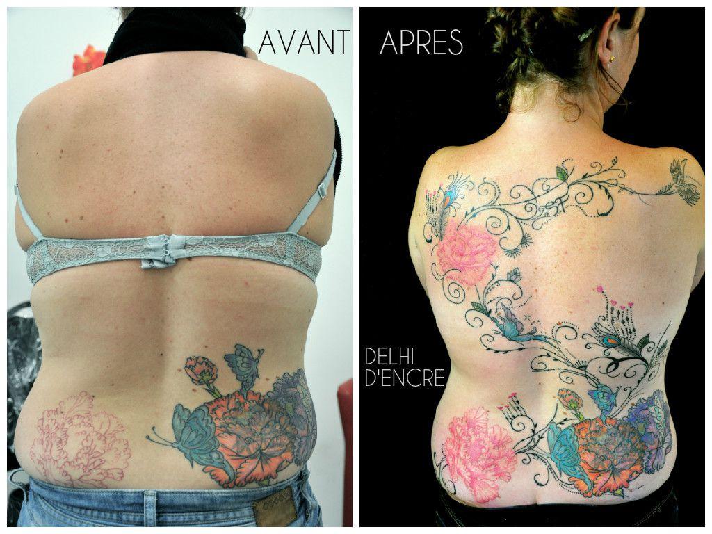 AVANT : tatouage réalisé par un autre tatoueur.