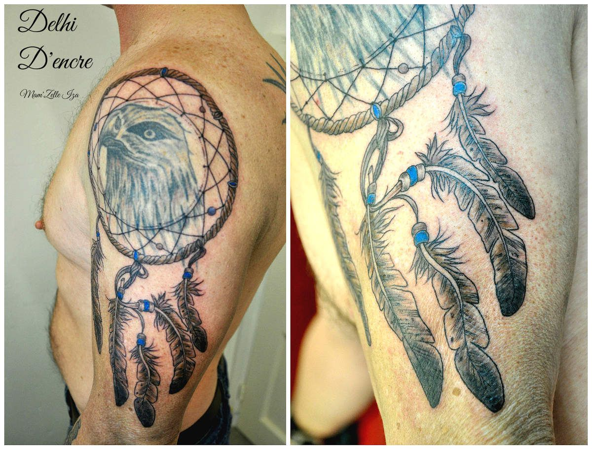 Tatouage Capteur De Rve Homme Interesting Dream Catcher Tattoos On