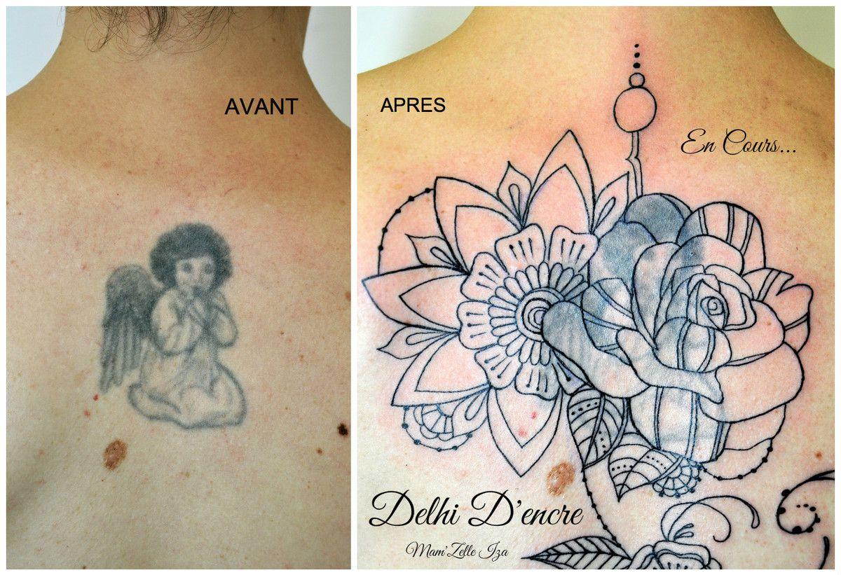 Recouvrement d'un ancien tatouage