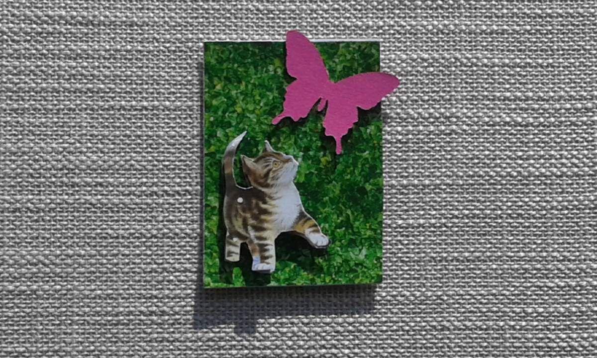 1er échange 2016-ATC scrappée thème chat-C'est Fini !!!