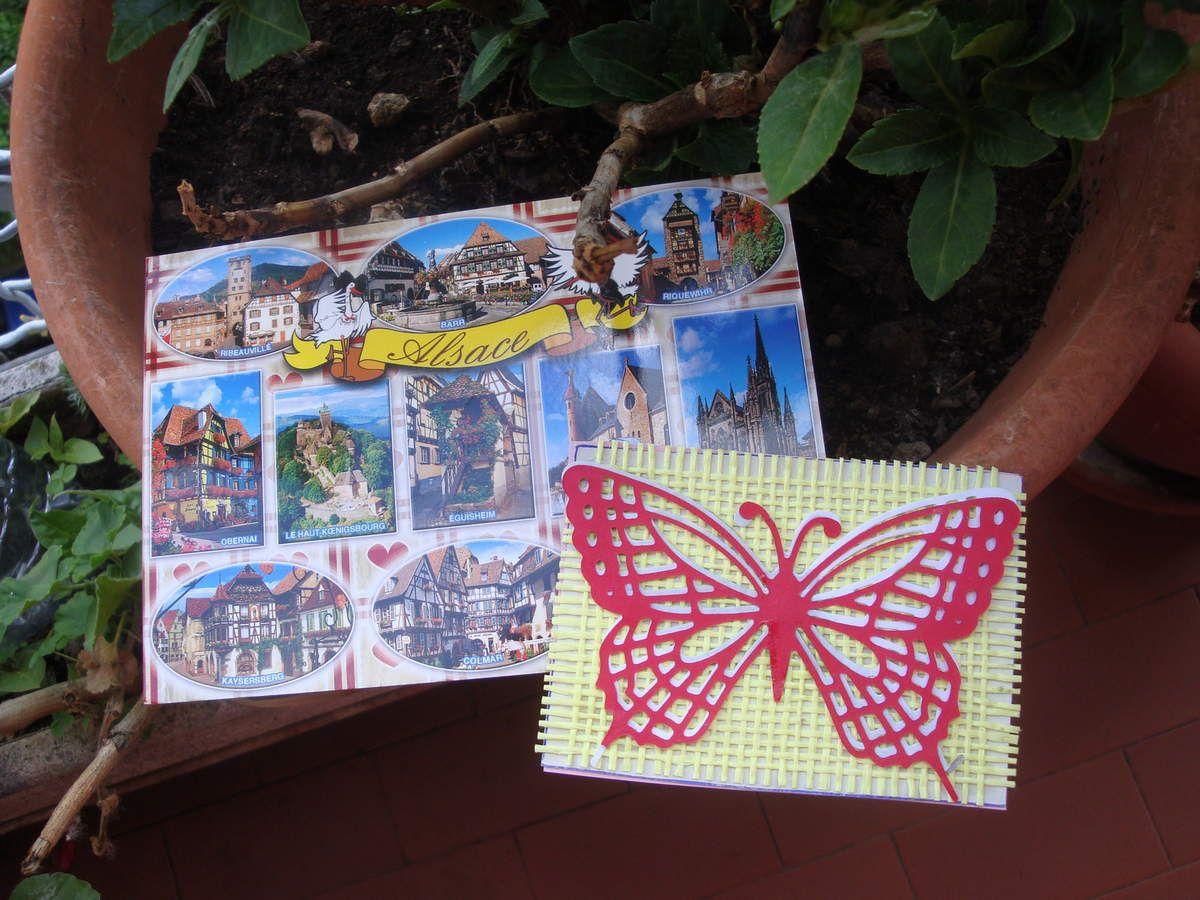 5ème échange 2016-ATC scrapée thème Papillon-C'est Fini !!!