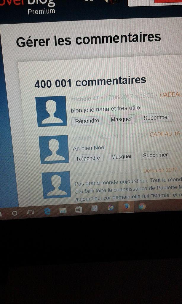 LE JEU DES 400 000 COMMENTAIRES