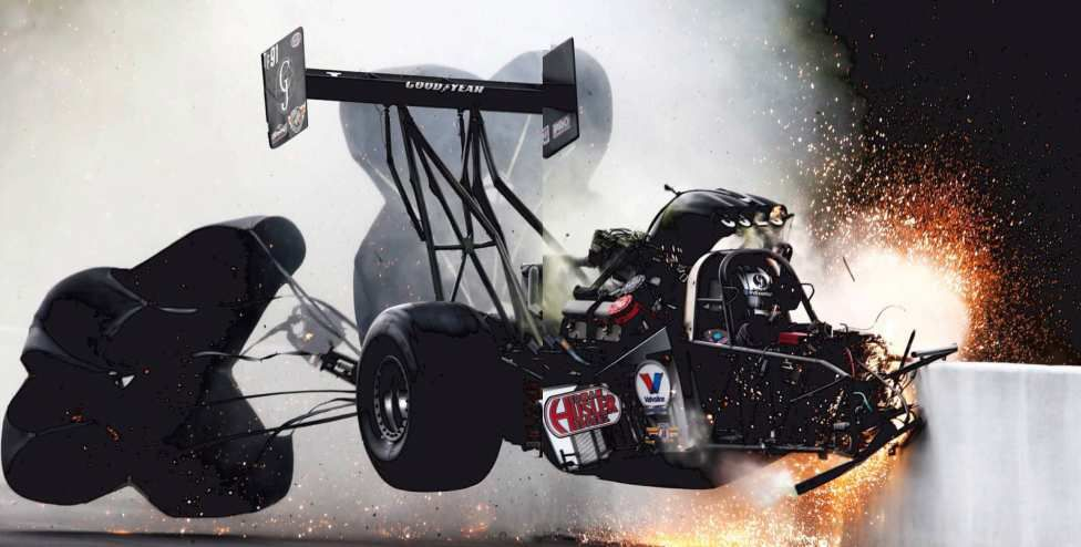 crash de dragster