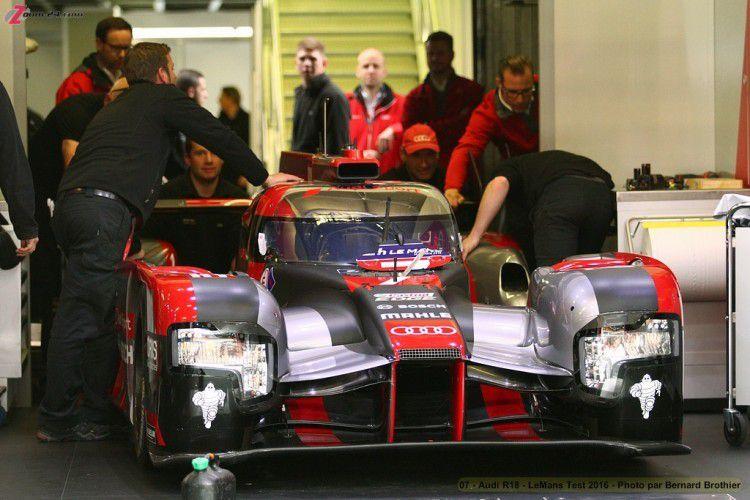 24 H du Mans,L'Audi de digrassi la plus vite de la journée test