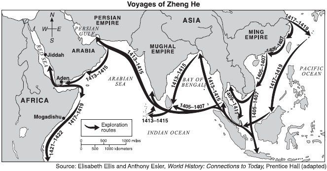 L'étranger proche maritime Chinois ©  au XVéme siècle - Les voyages de l'amiral Zheng-He