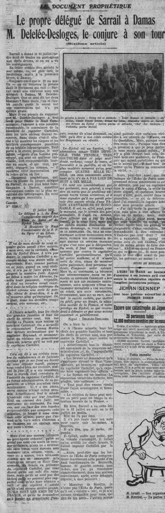 L'Echo de Paris - 3 octobre 1925
