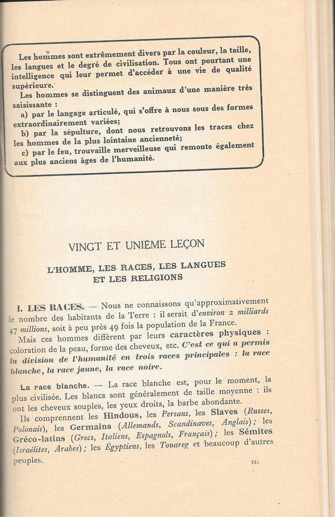 Nadine Morano : Quand le Front Populaire enseignait la &quot&#x3B; race blanche &quot&#x3B; et l' &quot&#x3B; Europe boréale &quot&#x3B; aux petits Français !