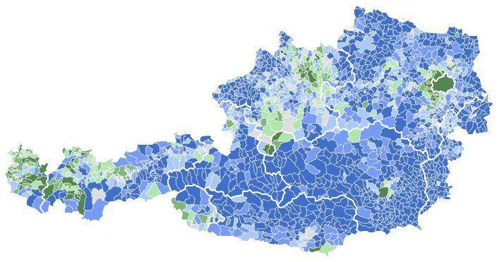 Géopolitique des élections Autrichiennes : La ville vote écolo et la campagne vote natio .