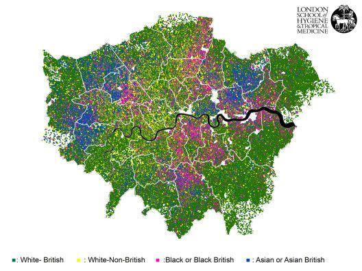 Carte ethnique de Londres
