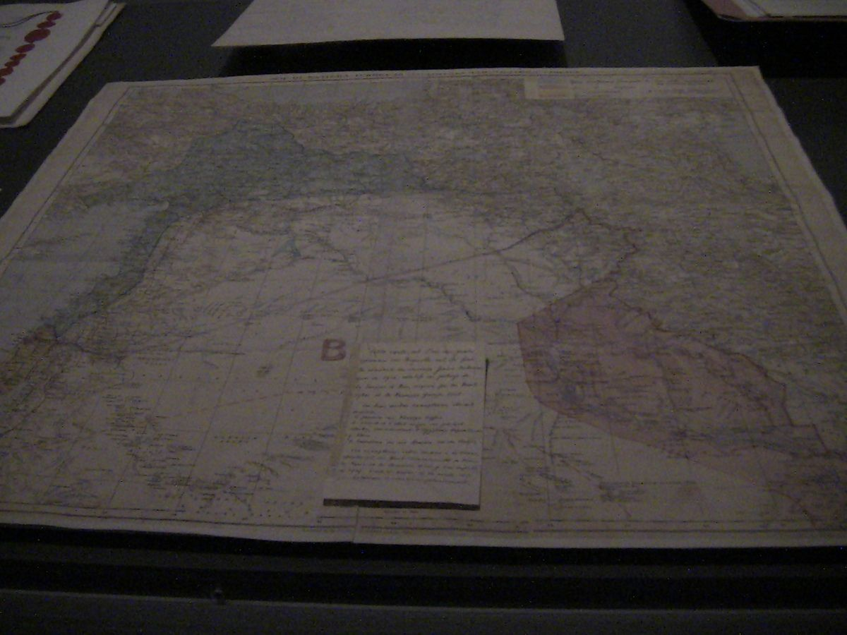Carte des accords Sykes-Picot