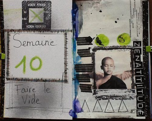 positiv attitude art journal mars