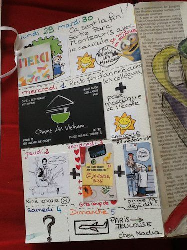 positiv attitude art journal juin
