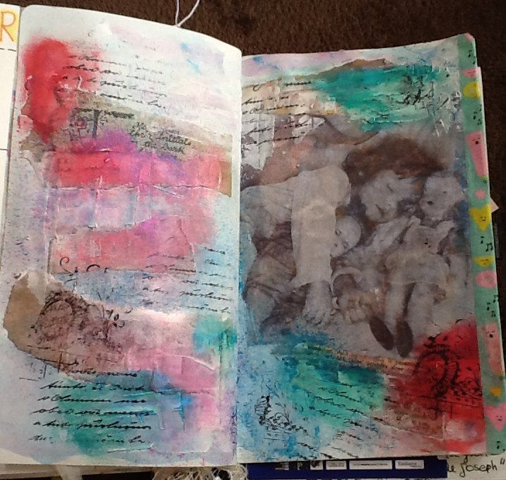 positiv attitude art journal aout
