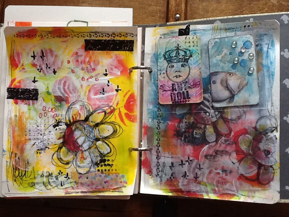 art journal: The documented life project 2016...help