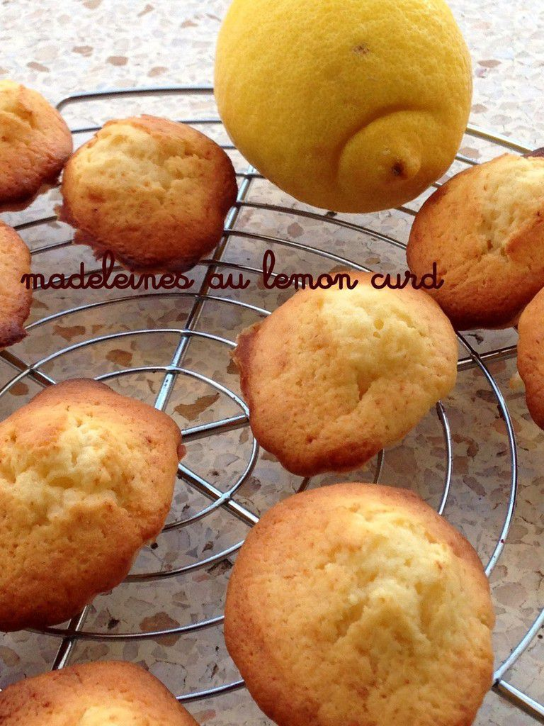 Madeleines au lemon curd