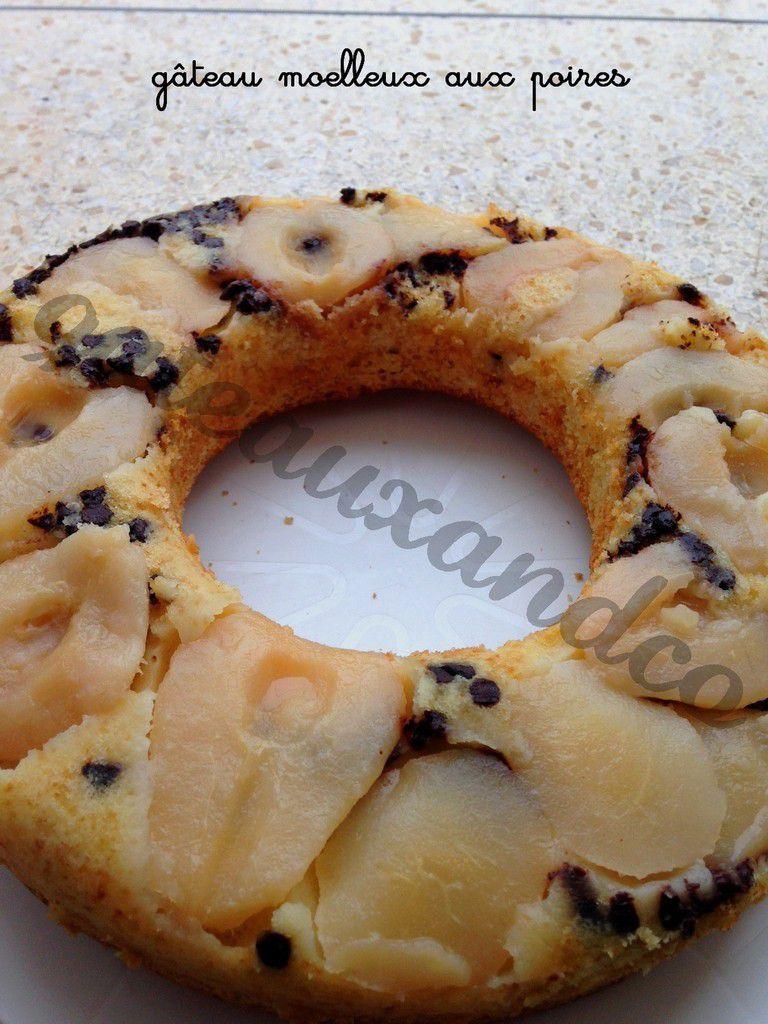 Gâteau moelleux aux poires